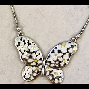 Vintage Rare Brighton Butterfly Daisy necklace
